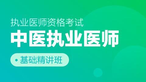 中医执业医师资格考试基础精讲班